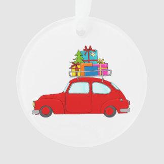Arbre rouge de remorquage de voiture de Noël