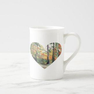 Arbres d'amour dans des couleurs d'automne mug