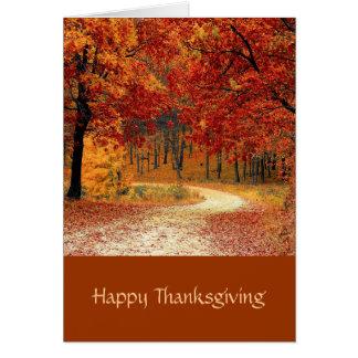 Arbres d'Autum, carte de thanksgiving de paysage Carte