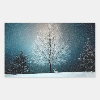 Arbres de Milou d'hiver et autocollants de
