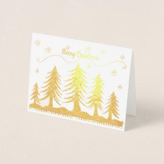Arbres de Noël d'or Foil Card