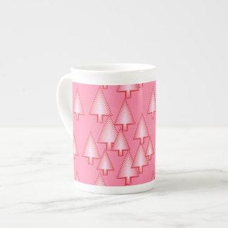 Arbres de Noël métalliques modernes - rose de Mug