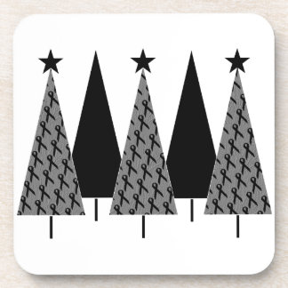Arbres de Noël - ruban noir Sous-bocks