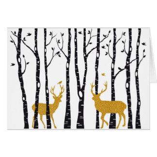 Carte Arbres de renne et de bouleau d'esprit de carte de