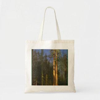 Arbres de séquoia par Albert Bierstadt Tote Bag