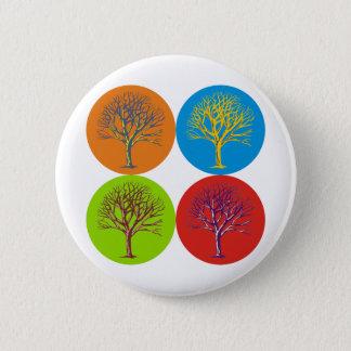 Arbres inspirés badge rond 5 cm