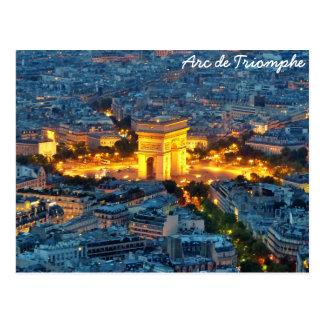 Arc de Triomphe, Paris, France Carte Postale