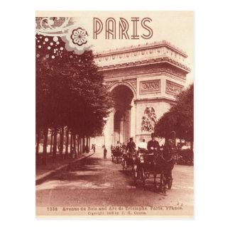 Arc de Triomphe vintage, Paris, 1903 Carte Postale
