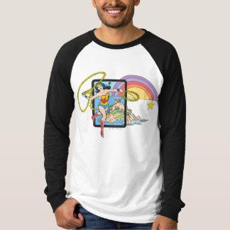 Arc-en-ciel de femme de merveille t-shirt
