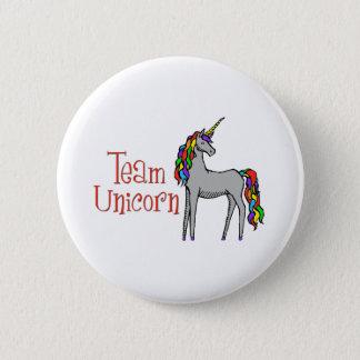 Arc-en-ciel de licorne d'équipe badge rond 5 cm