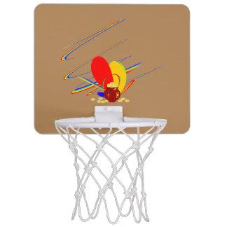 Arc-en-ciel de magie d'ANG d'argent d'or Mini-panier De Basket