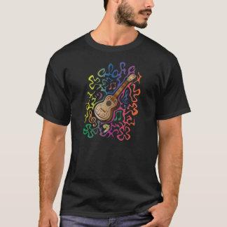 Arc-en-ciel d'ukulélé t-shirt