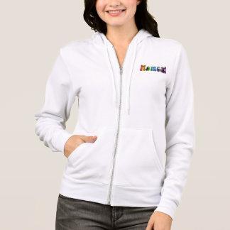 Arc-en-ciel Momcat avec la veste de sweatshirt de