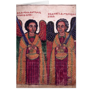 Archanges éthiopiens Michael et Noël de Gabriel Carte De Vœux