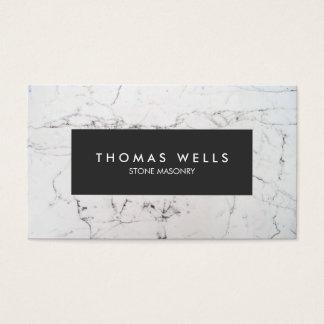 Architecte de marbre blanc de tailleur de pierres cartes de visite