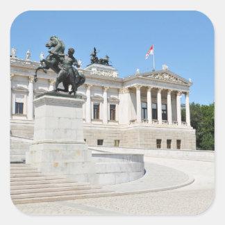 Architecture à Vienne, Autriche Sticker Carré