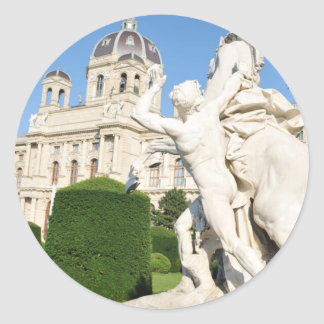 Architecture à Vienne, Autriche Sticker Rond