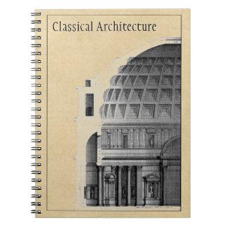 Architecture classique du Panthéon customisé Carnets À Spirale