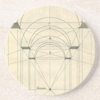 Architecture vintage, perspective de voûte de la dessous de verre en grès