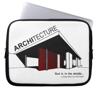 Architectuur: Mies van der Rohe Computer Sleeve Hoesje