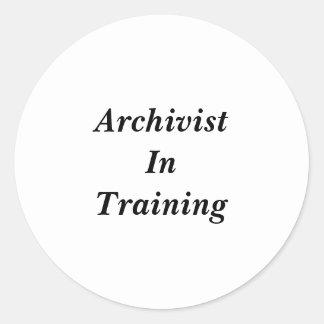 Archiviste dans des autocollants de formation