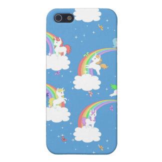 Arcs-en-ciel et licornes mignons étui iPhone 5