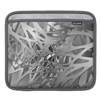 Argent et branches abstraites de gris poches pour iPad