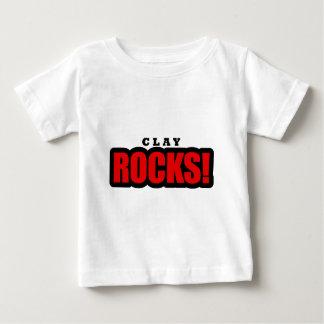 Argile, conception de ville de l'Alabama T-shirt Pour Bébé