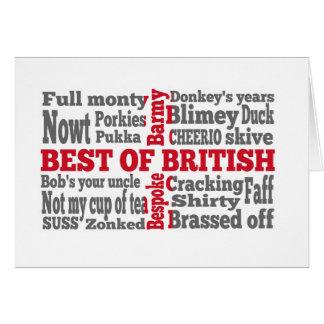 Drapeau anglais cartes drapeau anglais cartes de v ux - Carte de voeux en anglais ...