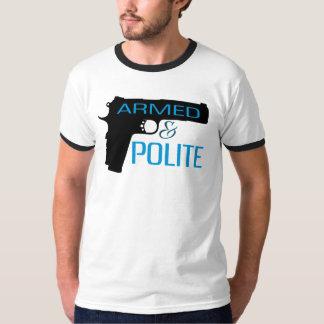 Armé et poli, T-shirt de base de la sonnerie des