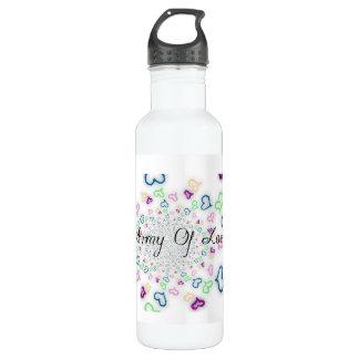 Armée de l'amour bouteille d'eau en acier inoxydable
