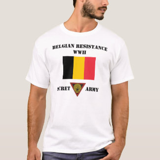 Armée de secret de résistance de la Belgique T-shirt