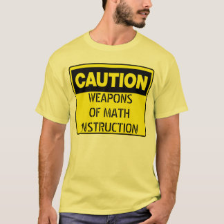 Armes de l'instruction de maths t-shirt