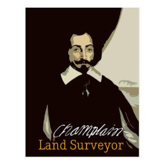 Arpenteur de Samuel de Champlain Land Carte Postale