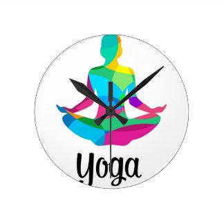 Arrangement et forme physique de yoga horloge ronde