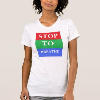 Arrêt-À-Respirez le T-shirt du Jersey des femmes