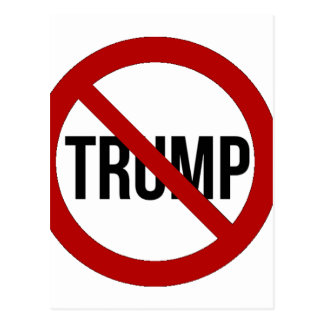 Arrêtez l'Anti-Atout 2016 de Donald Trump Carte Postale