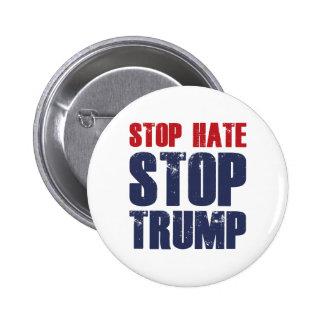 Arrêtez l'atout d'arrêt de haine badge rond 5 cm