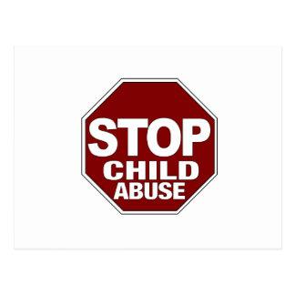 Arrêtez le mauvais traitement à enfant carte postale