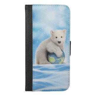 Arrêtez le portefeuille de téléphone d'ours blanc