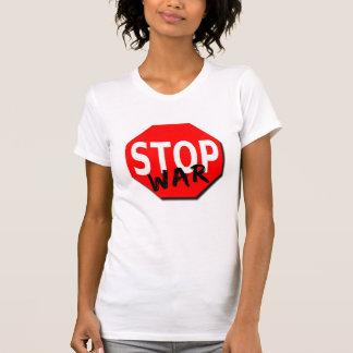 Arrêtez le T-shirt des femmes de guerre
