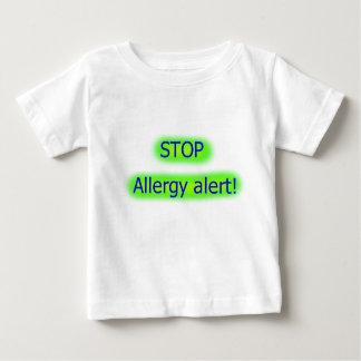 Arrêtez le T-shirt vigilant de childs d'allergie