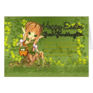 Arrière-petite-fille - carte de Pâques - centaure