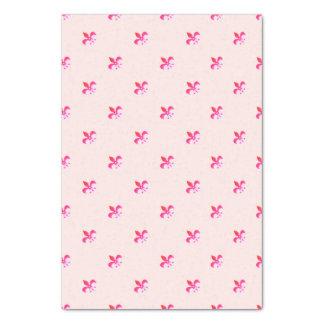 Arrière - plan blanc avec Pink Fleur de Lis Papier Mousseline