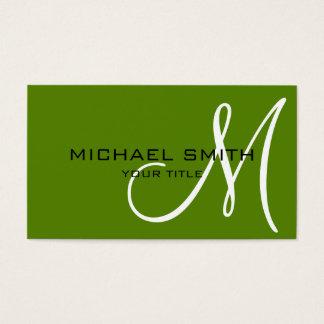 Arrière - plan de couleur d'avocat de monogramme cartes de visite