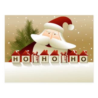 Arrière - plan de Noël avec le père noël Carte Postale