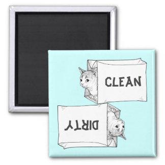 Arrière - plan de personnaliser d'aimant de lave-v magnet carré