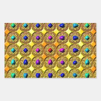 Arrière - plan de pierre gemme sticker rectangulaire