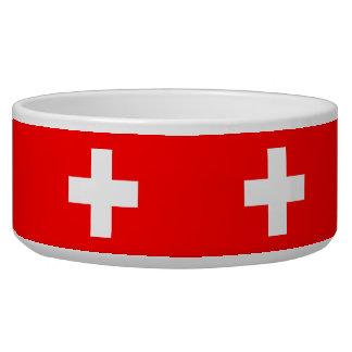 Arrière - plan Editable, le drapeau de la Suisse Écuelles Pour Chien