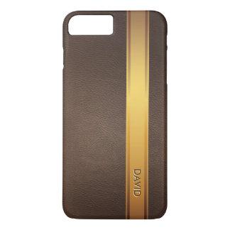 Arrière - plan en cuir nommé fait sur commande de coque iPhone 7 plus
